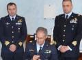 da sinistra - Comandante 9 stormo, Gen. Miniscalco, Comandante 16 stormo