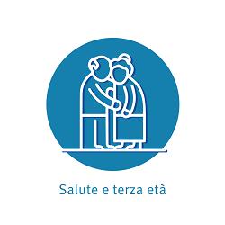 Il logo SALUTE E TERZA ETA' della Fondazione U.Veronesi
