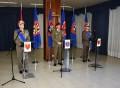 1. Il Gen. C. A. Castellano con i Comandanti cedente e subentrante
