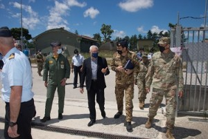 Visita delle infrastrutture in consegna alla NATO